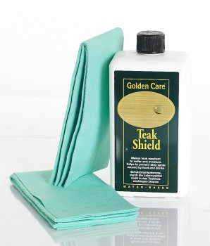 Golden Care Teak Shield 1 Liter 60004 + 2 Applikatortücher